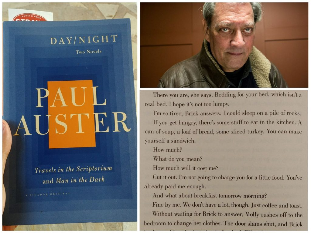 Day/Night Paul Auster cover and quote